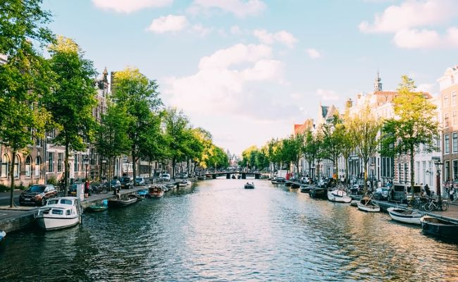 City canal scene