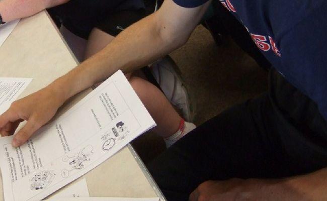 An easy read document on a table