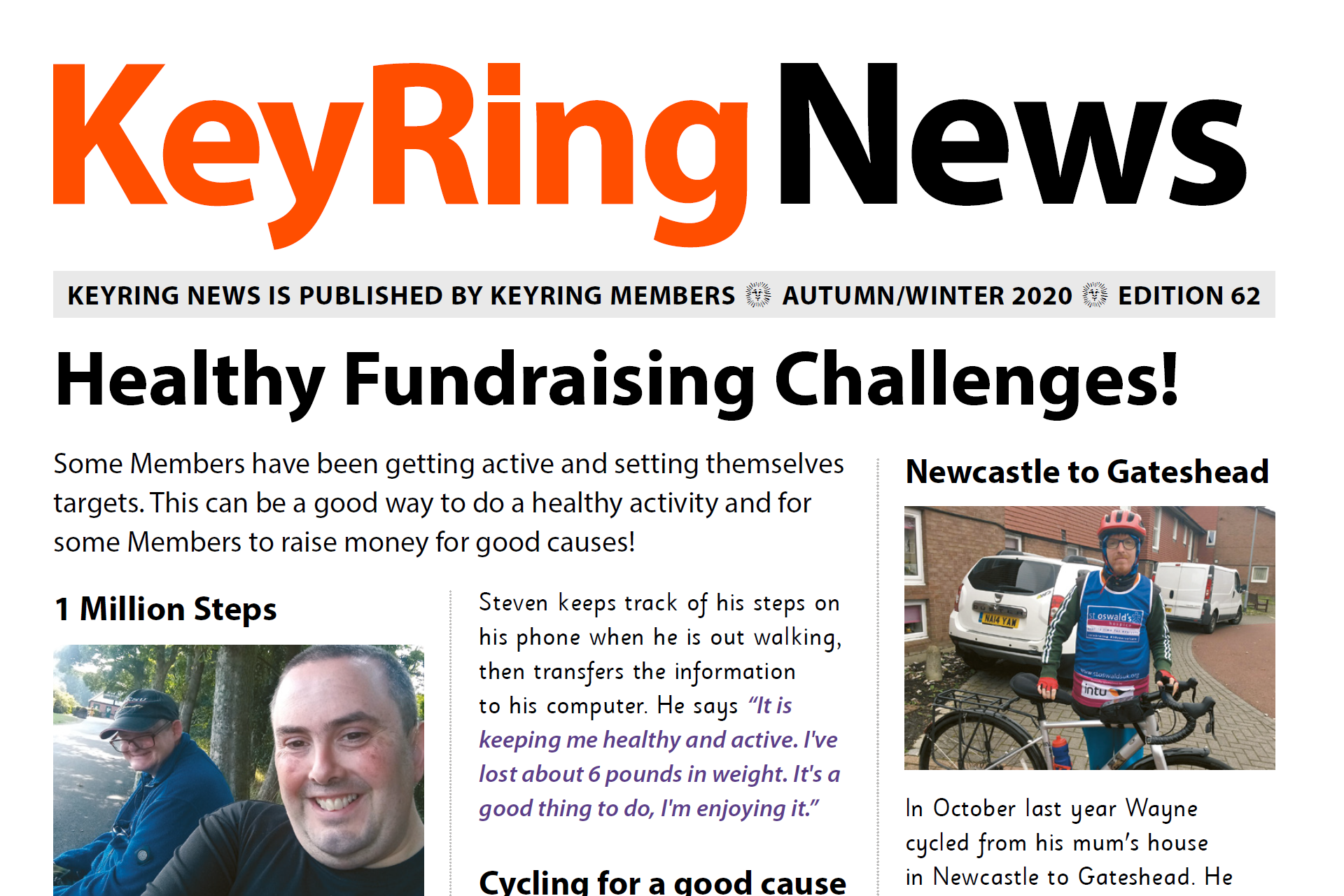 KeyRing News: Health and Wellbeing